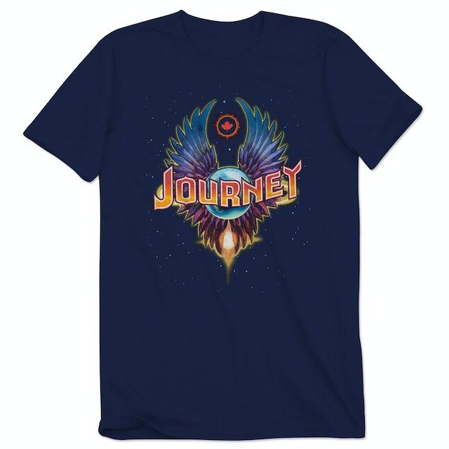 Journey 2015 Tour Canada Winged Globe T-Shirt