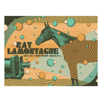 Ray Lamontagne The Ouroboros Tour 2016 - Brooklyn, NY Poster