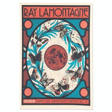 Ray Lamontagne The Ouroboros Tour 2016 - Greensboro, NC Poster