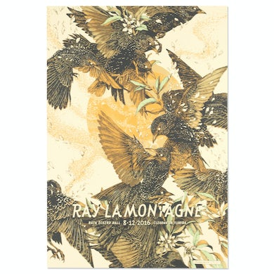 Ray Lamontagne The Ouroboros Tour 2016 - Clearwater, FL Poster