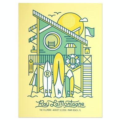 Ray Lamontagne The Ouroboros Tour 2016 - Miami Beach, FL Poster