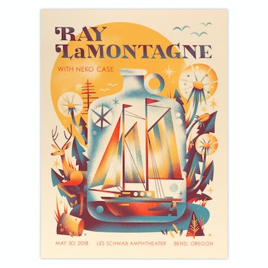 Ray Lamontagne Part Of The Light Tour 2018 - 5/30 Bend Oregon Poster