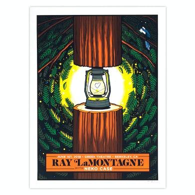 Ray Lamontagne Part Of The Light Tour 2018 - 6/1 Berkeley, CA Poster