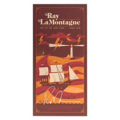 Ray Lamontagne Part Of The Light Tour 2018 - 7/3 Pittsburgh, PA Poster