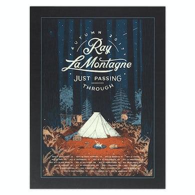 Ray Lamontagne Autumn 2017 Just Passing Through Tour Poster