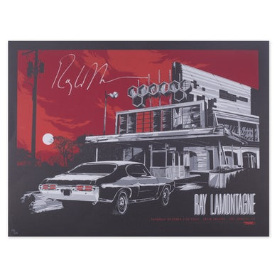 Ray LaMontagne saturday, October, 11, 2014, Greek Theatre, Los angeles, CA. Litho Signed