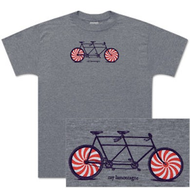 Ray LaMontagne Men's Candy Striped Bicycle T-Shirt