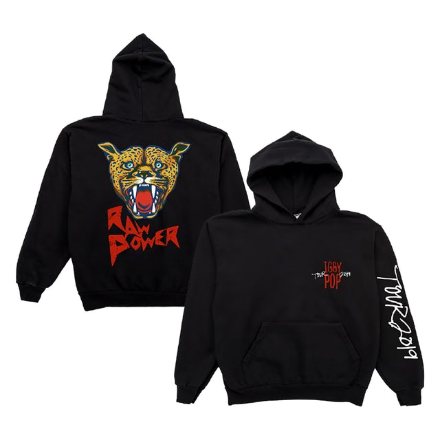 Iggy and the Stooges Iggy Pop 2019 Tour Raw Power Hoodie