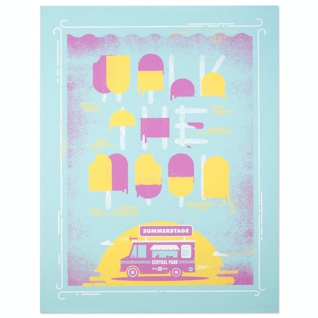 Walk The Moon Poster Summer Stage, Central Park, 9/25/2015