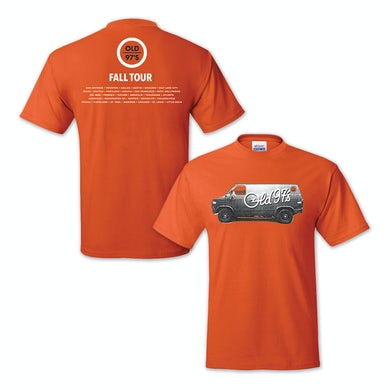 Old 97's 2015 Fall Tour Men's T-Shirt Orange