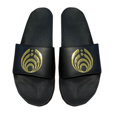 Bassnectar Black/Gold Slides