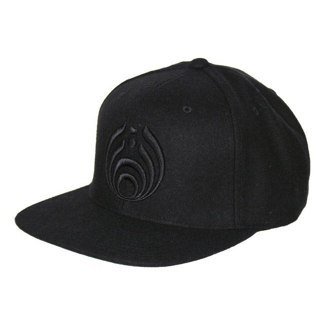 Bassnectar Black on Black Puffy Bassdrop Logo Hat