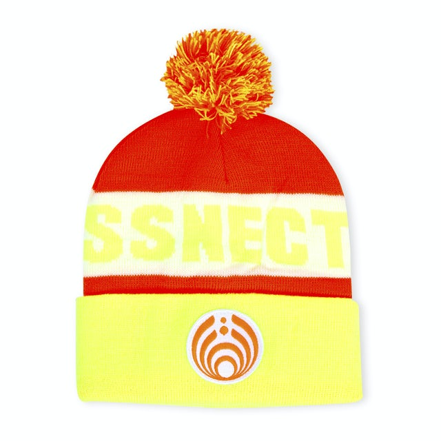 Bassnectar Neon Custom Patch Knit Beanie