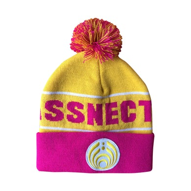 Bassnectar Yellow/Pink Custom Patch Knit Beanie