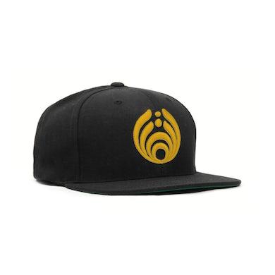 Bassnectar Gold on Black Puffy Bass Drop Logo Hat
