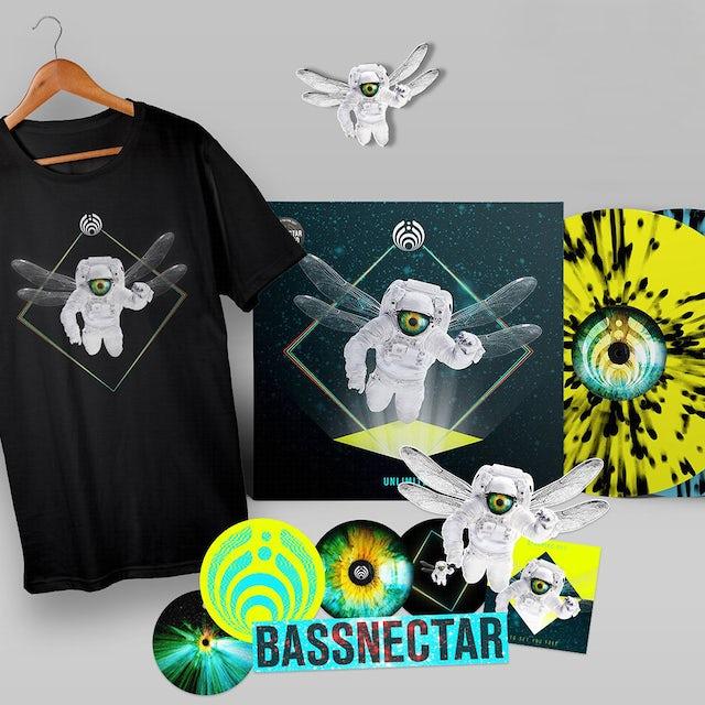 Bassnectar - Unlimited Vinyl + Tee + Sticker + Pin Bundle