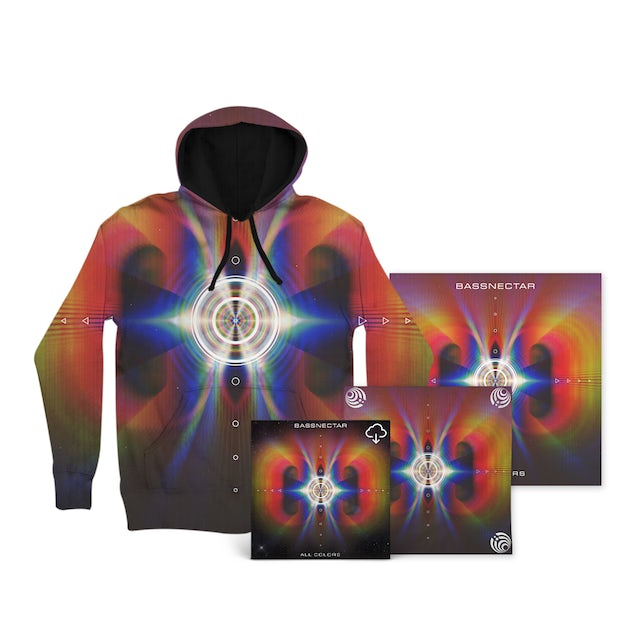 Bassnectar All Colors Deluxe Dye Sub Hoodie Bundle