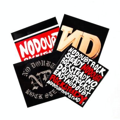 No Doubt Rock Steady 4-Sticker Pack