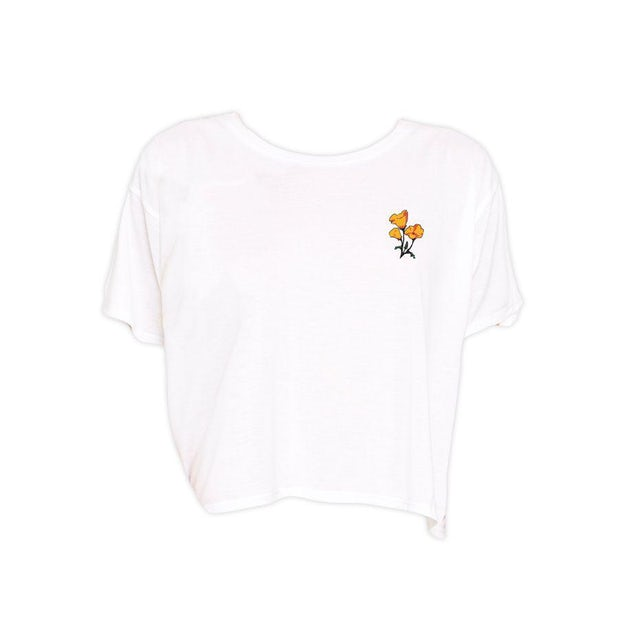 Cam Poppy Cropped T-Shirt