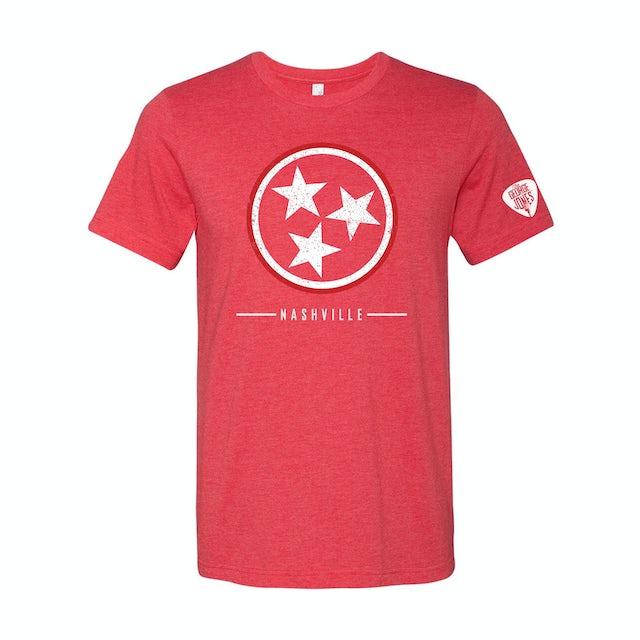 George Jones Tri-Star T-Shirt - Red