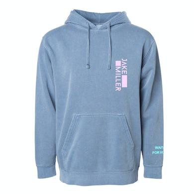 Jake Miller WAIT FOR  YOU BLUE HOODIE