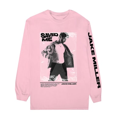 Jake Miller SAVED ME Pink Long Sleeve + Digital Single Download
