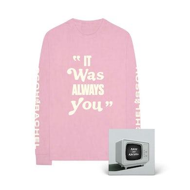 Jake Miller ROSS & RACHEL Pink Long-Sleeve T-Shirt + Digital Single Download