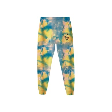 Cameron Dallas WHIMY Blue Tie Dyed Sunflower Sweatpants