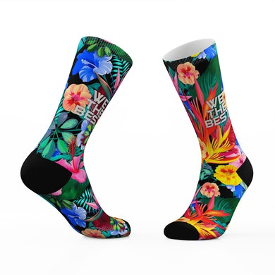 Floral We The Best Tribe Socks
