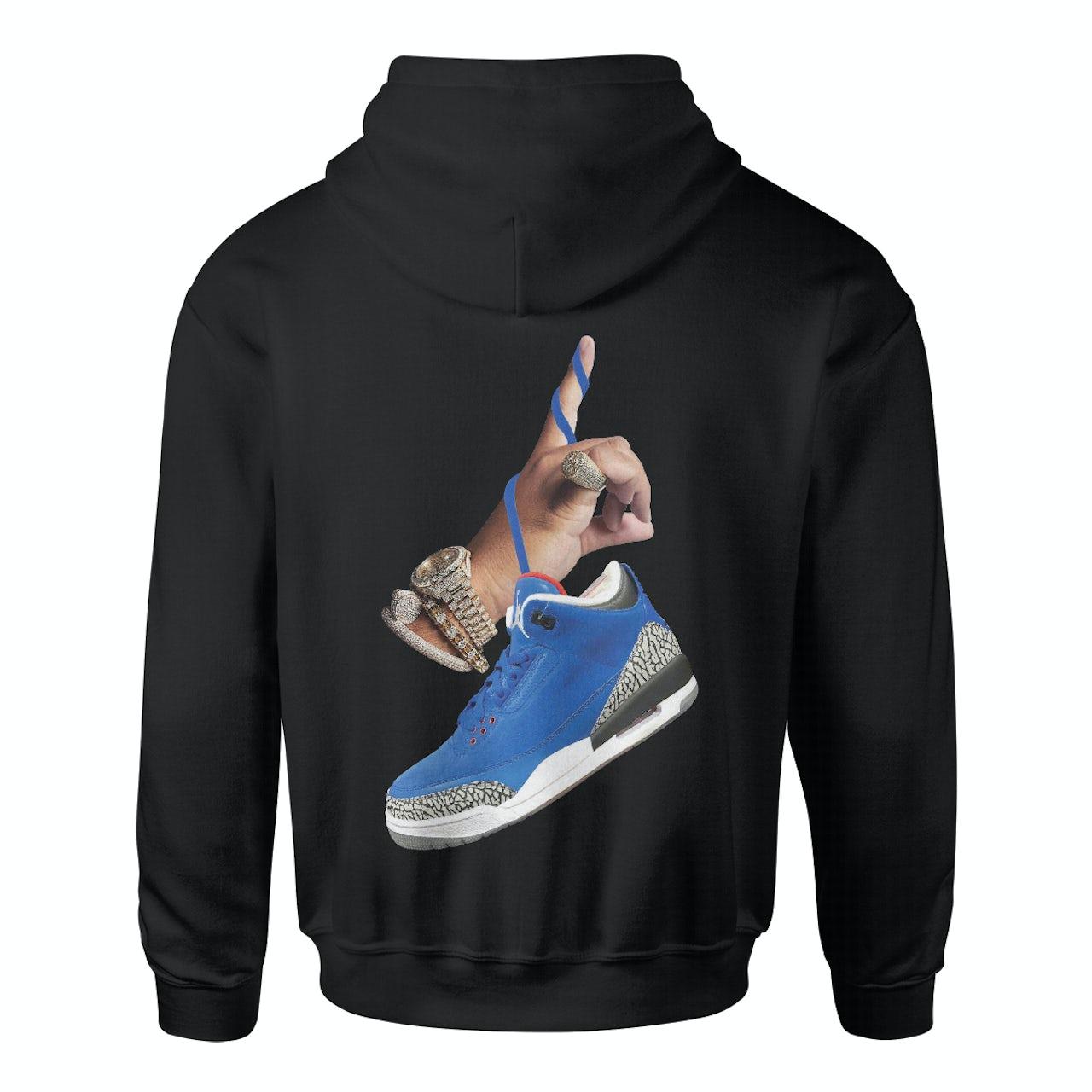 ae637c92c3f6fd DJ Khaled. x Jordan with Suede Sneakers Hoodie - Black