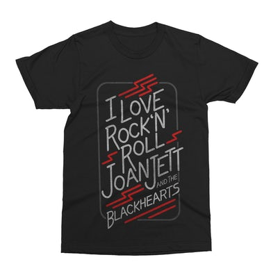 Joan Jett & The Blackhearts I Love Rock 'N' Roll Black T-shirt