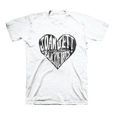 Joan Jett & The Blackhearts White Heart T-shirt