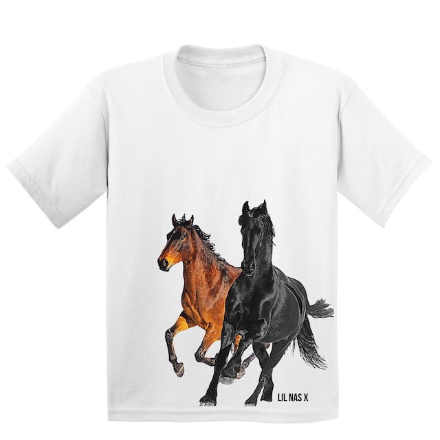 Lil Nas X Horses Youth Tee + 7 EP (Clean Version) Digital Download + Autographed EP Booklet