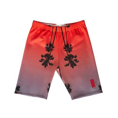 Maluma Palm Pink Premium Biker Shorts