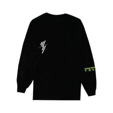Wisin & Yandel W&Y STACKED BLACK LONG SLEEVE TEE