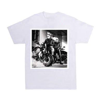 Wisin & Yandel COMO ANTES MOTORCYLE WHITE TOUR TEE