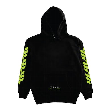 Wisin & Yandel WISIN Y YANDEL YELLOW TEXT BLACK TOUR PULLOVER HOOD