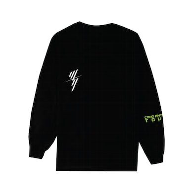 Wisin & Yandel W&Y STACKED BLACK LONG SLEEVE TEE