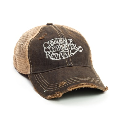 John Fogerty CCR Logo Trucker Cap - Black