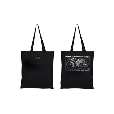 ATEEZ Black 'The Expedition Tour' Tote Bag - With Cities