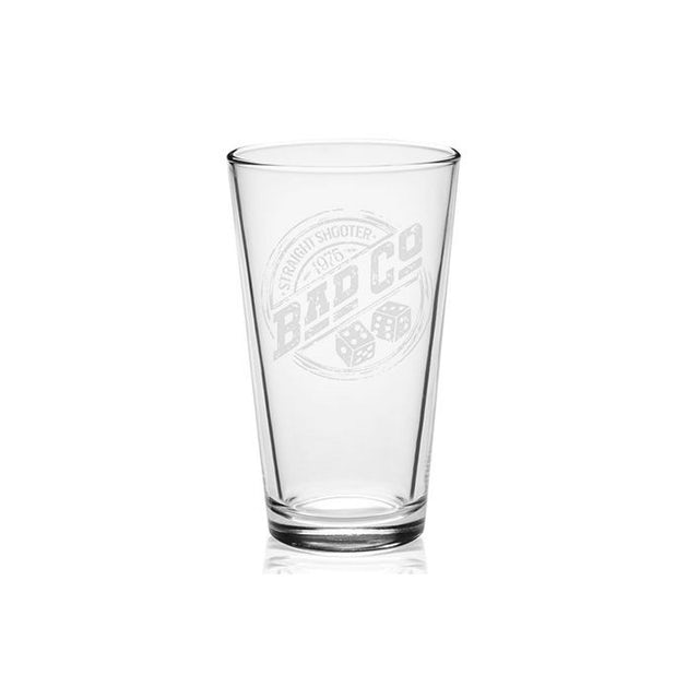 Bad Company Straight Shooter 1975 Laser-Etched Pint