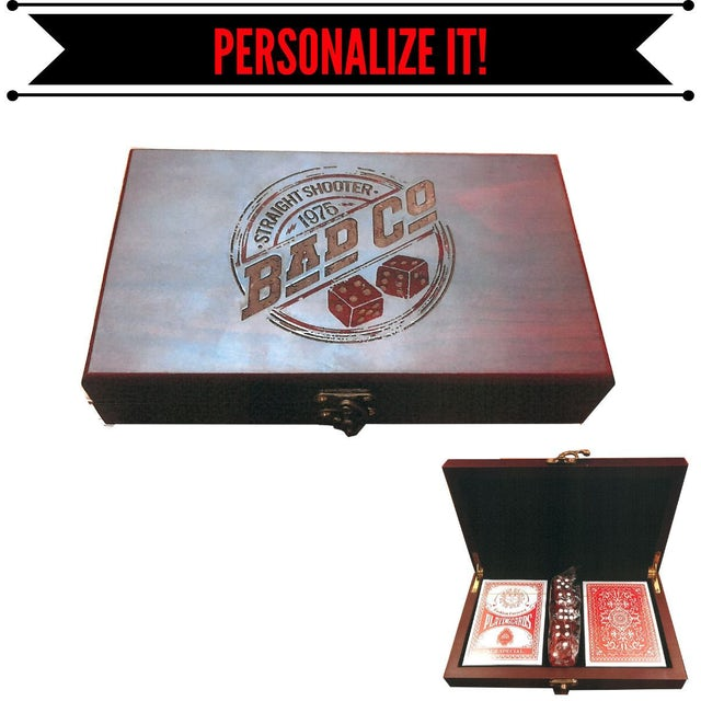 Bad Company Straight Shooter Engraved Rosewood Card Box