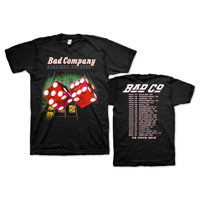 Bad Company Straight Shooter Tour T-shirt