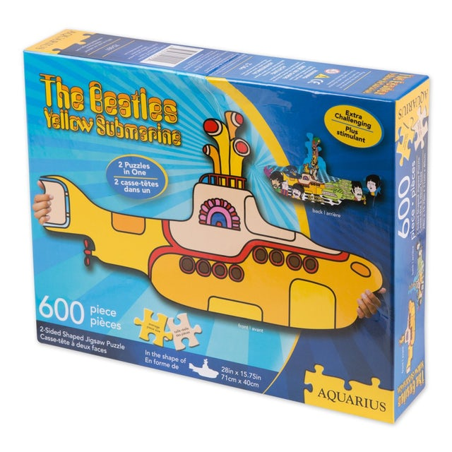 The Beatles Yellow Submarine Die Cut Shaped 600 pc Puzzle