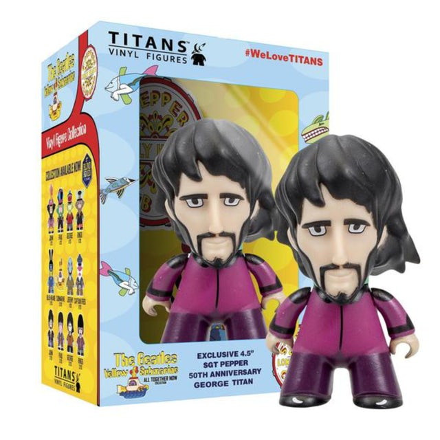 """The Beatles TITANS: 4.5"""" Sgt Pepper Disguise George"""