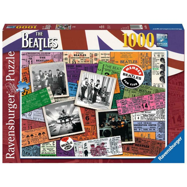 The Beatles Ticket Stub 1000 Piece Puzzle