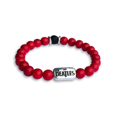 The Beatles Beaded Red Coral Bracelet