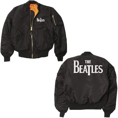 The Beatles Logo Varsity Bomber Jacket