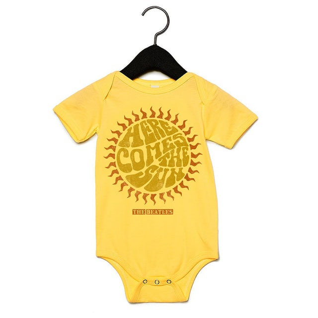 The Beatles Here Comes The Sun Baby Onesie