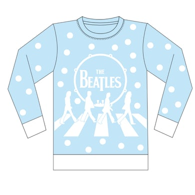 The Beatles Abbey Road Holiday Jacquard Knit Sweater